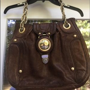 JUICY COUTURE VTG Distressed Leather Bag
